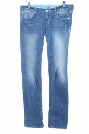 Mavi Straight-Leg Jeans blau Destroy-Optik