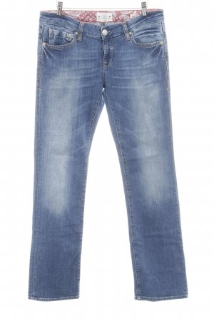 Mavi Straight-Leg Jeans blau Washed-Optik