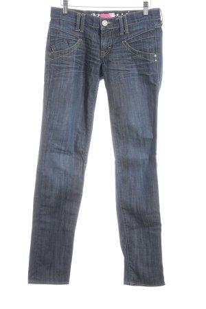 Mavi Straight-Leg Jeans blau Washed-Optik