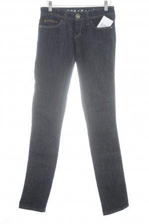 Mavi Straight-Leg Jeans dunkelblau Street-Fashion-Look
