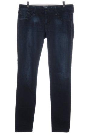 Mavi Straight-Leg Jeans dunkelblau Washed-Optik
