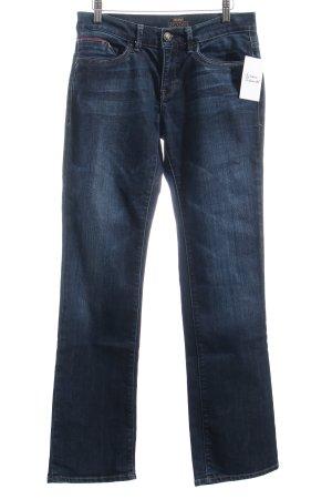 Mavi Straight-Leg Jeans dunkelblau-wollweiß Casual-Look