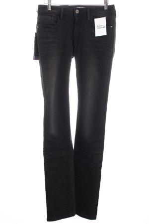 "Mavi Straight-Leg Jeans ""Olivia Low-Rise Straight-Leg"" schwarz"