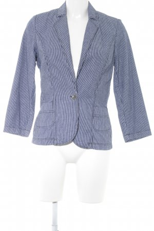 Mavi Sweatblazer weiß-dunkelblau Streifenmuster Casual-Look
