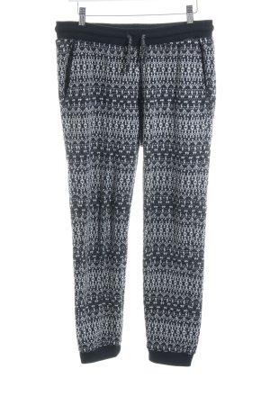 Mavi Sweathose schwarz-weiß abstraktes Muster Casual-Look