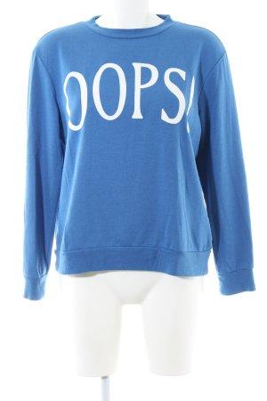 Mavi Sweatshirt blau Schriftzug gedruckt Casual-Look