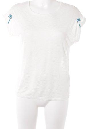 Mavi T-Shirt hellbeige-petrol meliert Beach-Look