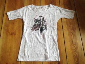 Mavi-T-Shirt weiß mit süssem Print