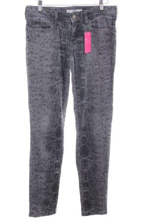 mavi UPTOWN Skinny Jeans grau-dunkelgrau Animalmuster Animal-Look