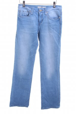 mavi UPTOWN Straight-Leg Jeans himmelblau Washed-Optik