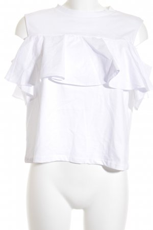Mavi Volanten top wit romantische stijl