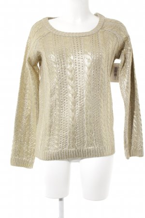Mavi Cable Sweater gold-colored cable stitch casual look