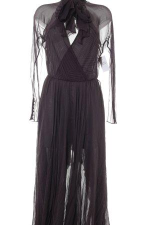 MAX AZRIA Cocktailkleid braunviolett-schwarz Punktemuster Elegant