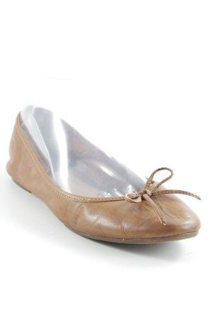 MAX Ballerinas mit Spitze hellbraun Casual-Look