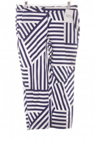 Max & Co. 7/8 Length Trousers natural white-dark blue striped pattern