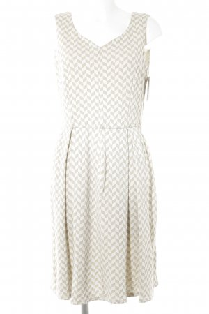 Max & Co. A-Linien Kleid goldfarben-weiß Karomuster Casual-Look