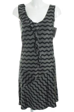 Max & Co. A-Linien Kleid graugrün-schwarz Zackenmuster Casual-Look