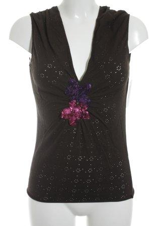 Max & Co. ärmellose Bluse mehrfarbig minimalistischer Stil