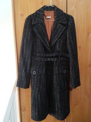 Max & Co # ausgefallener Mantel # schwarz/curry färbig # Grösse D 40