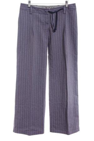 Max & Co. Boot Cut Jeans hellgrau-dunkelblau Streifenmuster extravaganter Stil
