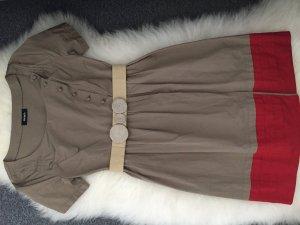 Max & Co. Midi-jurk rood-grijs-bruin