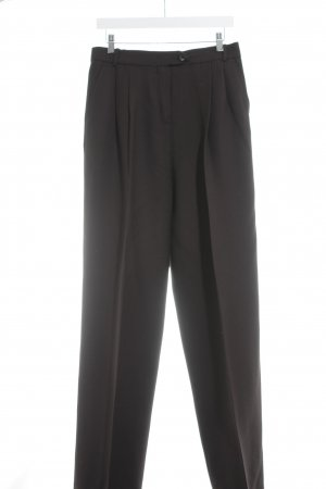 Max & Co. Bundfaltenhose dunkelbraun Business-Look