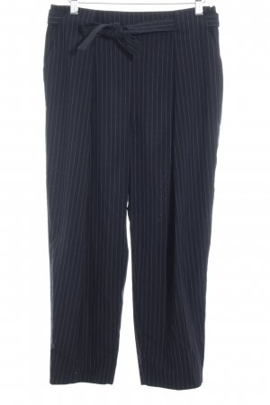 Max & Co. Bundfaltenhose schwarz-himmelblau Nadelstreifen Business-Look