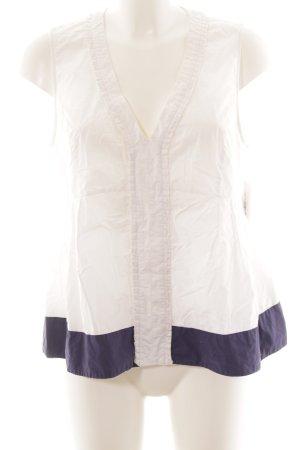 Max & Co. Camisole weiß-dunkelblau Casual-Look