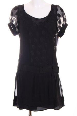 Max & Co. Chiffonkleid schwarz Punktemuster Elegant
