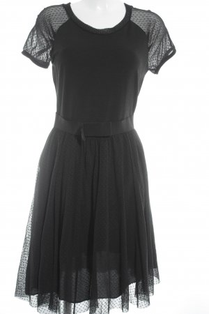 Max & Co. Chiffonkleid schwarz Punktemuster Party-Look