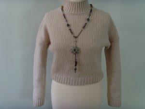 MAX & CO. ★ creme beige Grob-Strick-Pullover ★ S 36 m. 76 % Schur-Wolle Kurzschnitt
