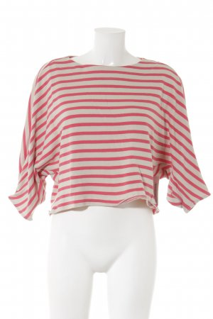 Max & Co. Cropped Top creme-lachs Streifenmuster Casual-Look