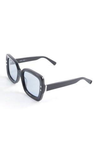 Max & Co. Gafas de sol cuadradas negro-azul look retro