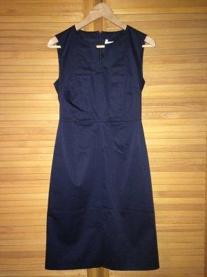 Max & Co. Etuikleid dunkelblau Gr 34 Baumwolle zeitlos klassisch elegant