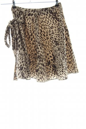 Max & Co. Flared Skirt brown-black leopard pattern casual look