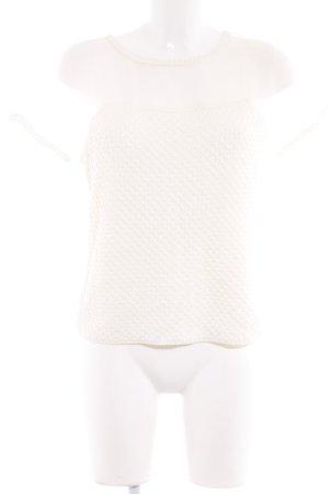 Max & Co. Top en maille crochet beige clair Motif de tissage style Boho