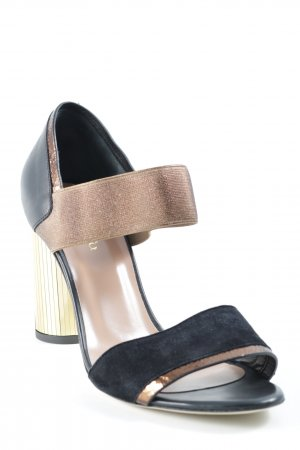Max & Co. High Heels schwarz-goldfarben Casual-Look