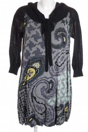 Max & Co. Hooded Dress abstract pattern material mix look