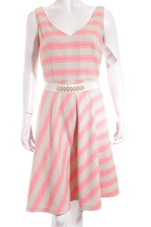 Max & Co. Kleid beige-pink Streifenmuster extravaganter Stil