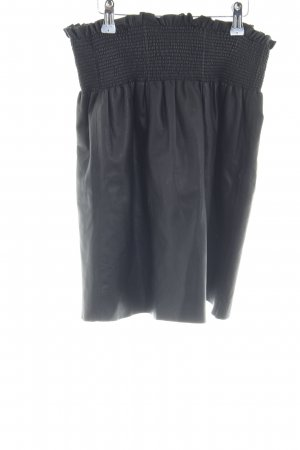 Max & Co. Faux Leather Skirt black street-fashion look