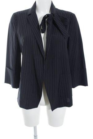 Max & Co. Kurz-Blazer schwarz-himmelblau Nadelstreifen Business-Look