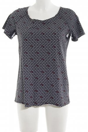 Max & Co. Kurzarm-Bluse Allover-Druck Casual-Look