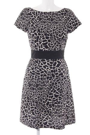 Max & Co. Kurzarmkleid schwarz-weiß abstraktes Muster Elegant