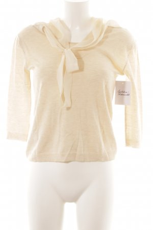 Max & Co. Kurzarmpullover creme Business-Look
