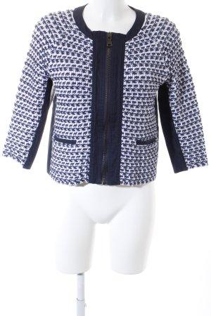 Max & Co. Kurzjacke blau-wollweiß Steppmuster Brit-Look