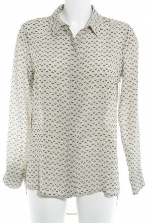 Max & Co. Langarm-Bluse creme grafisches Muster Casual-Look