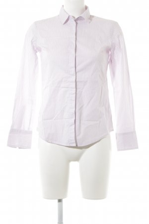 Max & Co. Langarmhemd weiß-hellrosa Streifenmuster Business-Look
