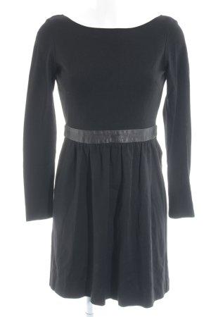 Max & Co. Langarmkleid schwarz schlichter Stil