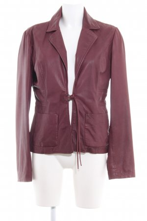 Max & Co. Lederjacke purpur Casual-Look