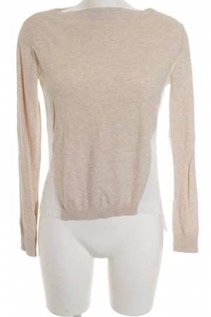Max & Co. Longsleeve weiß-beige Casual-Look